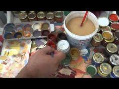 Μαθήματα αγιογραφίας οδηγίες 2 - YouTube Painting Videos, Painting Techniques, Ikon, Art Tutorials, Diy And Crafts, Watercolor, Tableware, Creative, Watches