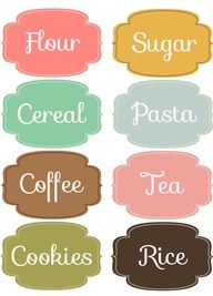 kitchen pantry organizing labels