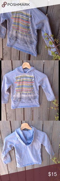 Surf board/VW bus Gap pullover with hood EUC boys pullover hooded sweatshirt. GAP Shirts & Tops Sweatshirts & Hoodies