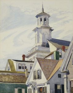 Edward Hopper, American (1882–1967), Methodist Church Tower, 1930, watercolor