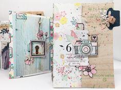 """Mini album """"A conserver au fil des ans"""" - mon bric à scrap Diy Photo, Book Journal, Bullet Journal, Journals, Mini Albums Scrapbook, Smash Book, Stamping Up, Clermont Ferrand, Projects"""