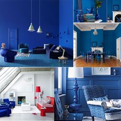A combination of blue rooms used in my blog; http://www.creativehomecompany.com/blog/  Some great ideas here