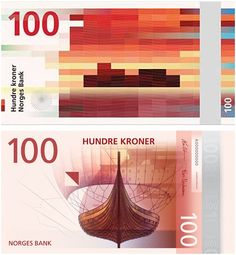 Norway's new sea-themed banknotes have been heralded as an instant design classic. Two Oslo studios took a side each – Snøhetta submitted a modern, pixel motif, while the Metric System offered more traditional images Notes Design, Graphic Design Print, Something To Do, Culture, Creative, Cards, Banknote, Beautiful, Norway