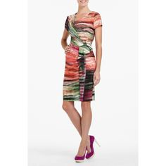 Loving the effect with this dress, both the colors and the cut. Think of all the different shoe colors that would work with this dress!