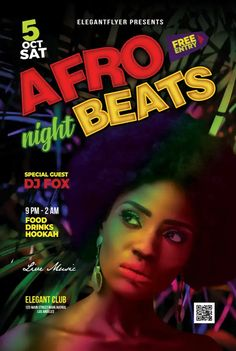 Download the Free Afro Beats Party Poster Template for Photoshop!