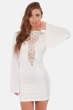 One Rad Girl Natalia Plunging Backless Ivory Dress at LuLus.com! Definitely in love with this dress!