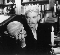 Kenneth Branagh as Hamlet from his uncut 1996 film version. He gave a rather different but magnificent performance. The film is among the best I've seen.