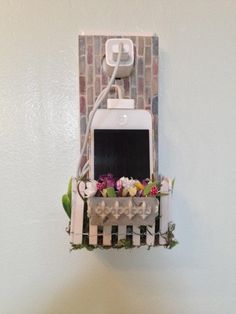Twitter - from etsy.com - i phone charger holder.