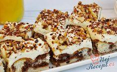 Smetanově pudinkový zákusek | NejRecept.cz Pudding Desserts, Pudding Cake, Party Desserts, Sweets Cake, Cupcake Cakes, Czech Recipes, Hungarian Recipes, Cake Flavors, Pie Dessert