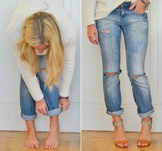 DIY boyfriend jeans - from advice from a twenty something