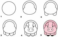 How to draw a pig?