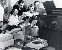 getting together to listen to music..1942