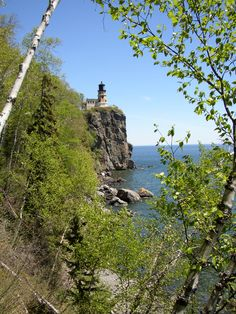 About my view from where we got engaged! Split Rock Lighthouse.  #MSPgetawaypinfest