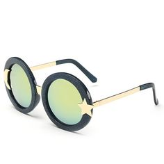 Stylish Glitter Powders Star Moon Shape Embellished Sunglasses For Women ((FOR MARY))