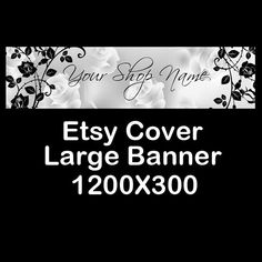 ETSY LARGE COVER Banner 1200X300 Premade Etsy by StylePointDesign