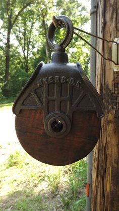 love this old barn pulleys