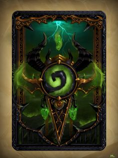 Yet another Hearthstone card back! Demon Hunters are cool. Demon Hunter Card Back Prop Design, Game Design, Hearthstone Heroes Of Warcraft, Illidan Stormrage, Warcraft Legion, Hearth Stone, Hand Painted Textures, Night Elf, Steampunk