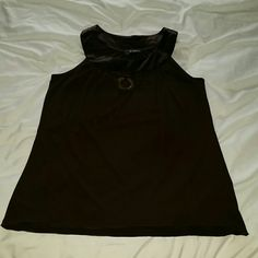 B-wear California blouse Dark brown halter top that hangs just right! Gold ring hangs front and center off the neckline. Great lightweight material 92%polyester 8%spandex. Size M. Make an offer or bundle up! Thanks for looking! :) B-wear California  Tops Blouses