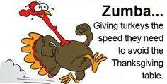 Go turkey go! --- Zumba, giving turkeys the speed they need.