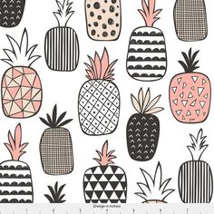 Geometric Fabric Pineapple Geometric By Caja by Spoonflower