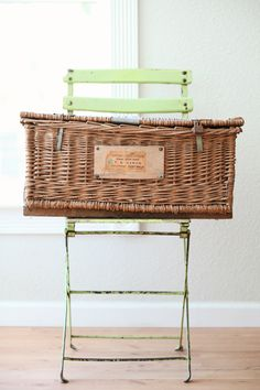Vintage French Basket - for towels