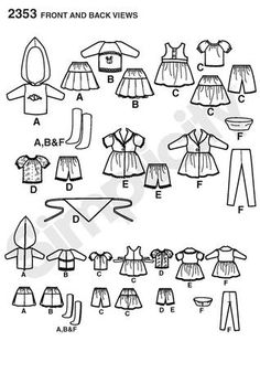 Simplicity sewing pattern for Blythe doll clothes - Simplicity 2353 ; must shop around for it!
