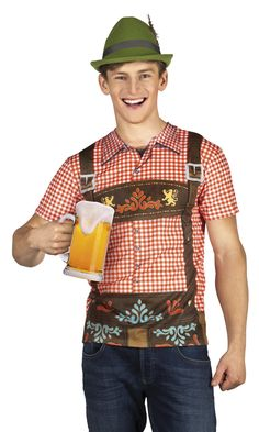 Printtipaita Oktoberfest. Oktoberfest-printtipaita on yksityiskohtaisesti ja perinteisesti saksalaiseen tyyliin kuvioitu t-paita, joka sopii Oktoberfest-hullutteluun ja naamiaisiin mainiosti.