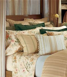 Ralph Lauren Woodstock Garden Collection.  This is too many pillows even for me.