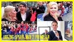 Amazing Spider-Man 2 Premiere   Sprinkle of Chatter Sprinkle Of Glitter, British Youtubers, Spider Man 2, Amazing Spider, Music, Movie Posters, Musica, Musik, Film Poster