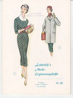 Lutterloh's Mode Ergänzungsheft Nr. 62 / 1956 in Antiquitäten & Kunst, Antiquarische Bücher, Kunst & Kultur | eBay