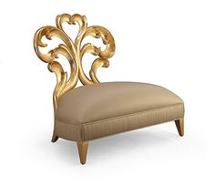 christopher guy mademoiselle collection - Boudoir chair in gold