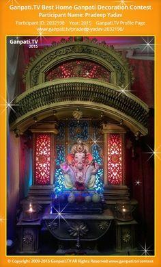 Pradeep Yadav Home Ganpati Picture View more pictures and videos of Ganpati Decoration at www. Decoration Pictures, Decorating With Pictures, Thermocol Craft, Ganpati Picture, Ganpati Decoration Design, Ganesh Chaturthi Decoration, Ganpati Festival, Ganapati Decoration, Shiva Art