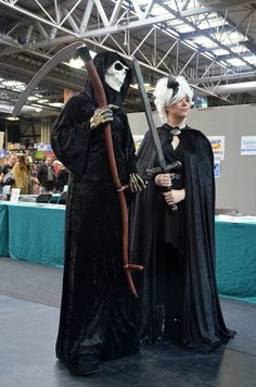 Discworld cosplay (Death and Susan from Hogfather) by masimage