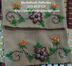 But the colors 🙈 Zardozi Embroidery, Pearl Embroidery, Hand Embroidery Dress, Hand Embroidery Videos, Bead Embroidery Patterns, Embroidery On Clothes, Couture Embroidery, Silk Ribbon Embroidery, Embroidery Jewelry
