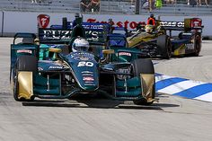 INDYCAR: He may have only qualified 19th for this afternoon's race, but Luca Filippi put a smile on the faces of the CFH Racing team members with fastest time in morning practice at Detroit on Saturday. RACER.com