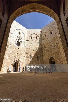 Photo d'actualité : Italy. Apulia. Andria. Castel del Monte indoor.