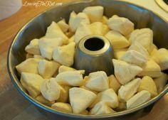 Easy Monkey Bread dough in pan