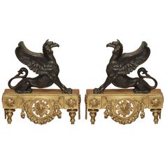 Pair of Fine Early 19th Century Bronze Ornaments ($6,800) ❤ liked on Polyvore featuring home, home decor and bronze home decor