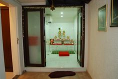 pooja room glass