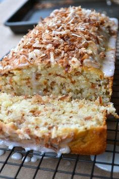 Toasted Coconut Pound Cake. This is easy to make. I didn't toast the coconut, and it was still good.
