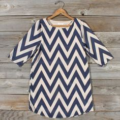 Storm Clouds Chevron Dress