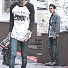 IVAN Chang - P&Co Shirt, Levi's® Vintage Jacket, Asos Superskinnyjeans, While Chealsea - 240915 TODAT STYLE