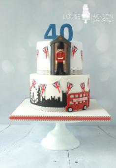 London themed cake - Cake by Louise Jackson Cake Design