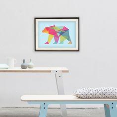 Fractal Bear Neon Print - alt_image_three
