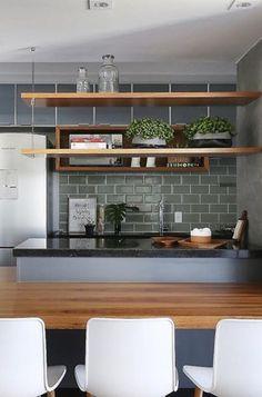 Kitchen loft ideas architecture 67 ideas for 2019 Blue Kitchen Decor, Kitchen Room Design, Kitchen Colors, Rustic Kitchen, Diy Kitchen, New Kitchen Cabinets, Kitchen Stools, Kitchen Island With Seating, Decoration