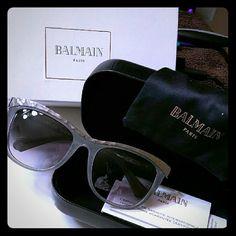 Balmain NIB AUTHENTIC Silver & Grey Sunglasses Balmain Accessories Sunglasses