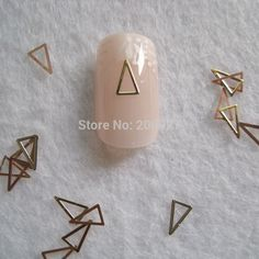 1.99$  Watch here - http://ali7ok.shopchina.info/go.php?t=2017925949 - MS269-2 100pcs Gold Cute Long Triangle  Metal Sticker Nail Art Metal Sticker Nail Art Decoration Non-adhesive Sticker  #magazineonlinewebsite