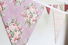 HIRE Dusky pink bunting vintage rose fabric flags floral | Etsy Pink Bunting, Floral Wedding Decorations, Vintage Roses, Floral Tie, Flags, Fabric, Handmade, Etsy, Design