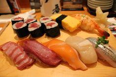 Delicious sushi in Asakusa