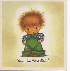 M274 Vintage-Grußkarte Künstlers Charlot Byj A Shabby O' Hair Karte Red Headed Boy